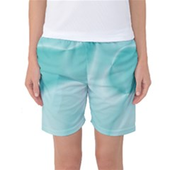 Colors In Motion,teal Women s Basketball Shorts