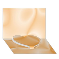 Colors In Motion,peach Heart Bottom 3D Greeting Card (7x5)