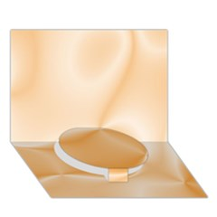 Colors In Motion,peach Circle Bottom 3d Greeting Card (7x5)