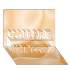 Colors In Motion,peach YOU ARE INVITED 3D Greeting Card (7x5)