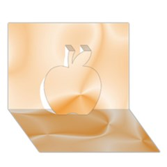 Colors In Motion,peach Apple 3D Greeting Card (7x5)