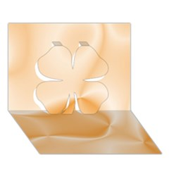 Colors In Motion,peach Clover 3d Greeting Card (7x5)