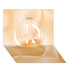 Colors In Motion,peach Peace Sign 3D Greeting Card (7x5)