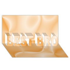 Colors In Motion,peach Best Bro 3d Greeting Card (8x4)