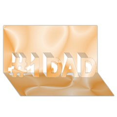 Colors In Motion,peach #1 Dad 3d Greeting Card (8x4)