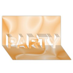 Colors In Motion,peach PARTY 3D Greeting Card (8x4)