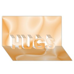 Colors In Motion,peach HUGS 3D Greeting Card (8x4)