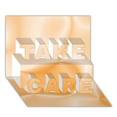 Colors In Motion,peach TAKE CARE 3D Greeting Card (7x5)