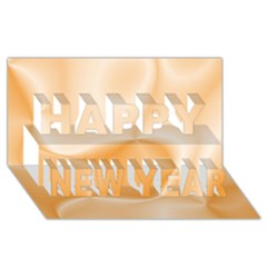 Colors In Motion,peach Happy New Year 3D Greeting Card (8x4)