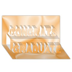 Colors In Motion,peach Congrats Graduate 3d Greeting Card (8x4)