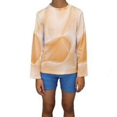 Colors In Motion,peach Kid s Long Sleeve Swimwear
