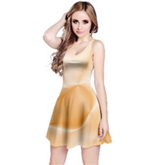 Colors In Motion,peach Reversible Sleeveless Dresses