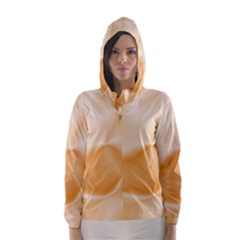 Colors In Motion,peach Hooded Wind Breaker (women)