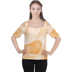 Colors In Motion,peach Women s Cutout Shoulder Tee