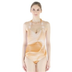 Colors In Motion,peach Women s Halter One Piece Swimsuit