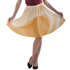 Colors In Motion,peach A-line Skater Skirt