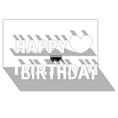 Collage Mousepad Happy Birthday 3d Greeting Card (8x4)