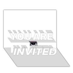 Collage Mousepad YOU ARE INVITED 3D Greeting Card (7x5)