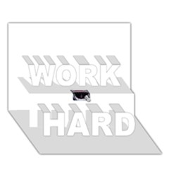 Collage Mousepad Work Hard 3d Greeting Card (7x5)