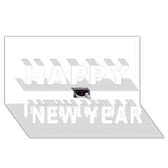 Collage Mousepad Happy New Year 3D Greeting Card (8x4)