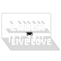 Collage Mousepad Laugh Live Love 3d Greeting Card (8x4)