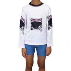 Collage Mousepad Kid s Long Sleeve Swimwear
