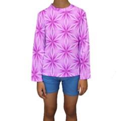 Cute Pretty Elegant Pattern Kid s Long Sleeve Swimwear