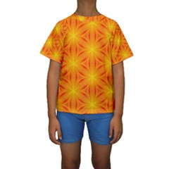 Cute Pretty Elegant Pattern Kid s Short Sleeve Swimwear
