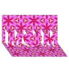 Cute Pretty Elegant Pattern MOM 3D Greeting Card (8x4)