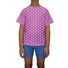 Cute Pretty Elegant Pattern Kid s Short Sleeve Swimwear
