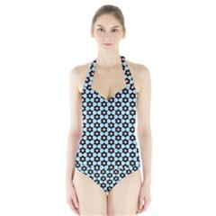 Cute Pretty Elegant Pattern Women s Halter One Piece Swimsuit