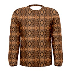 Faux Animal Print Pattern Men s Long Sleeve T Shirts