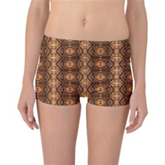 Faux Animal Print Pattern Reversible Boyleg Bikini Bottoms