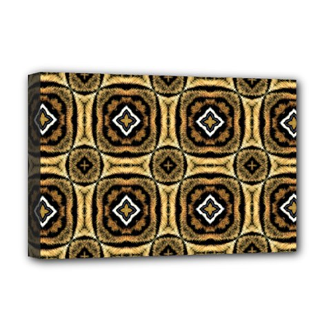 Faux Animal Print Pattern Deluxe Canvas 18  x 12