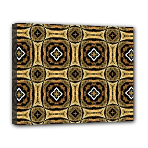 Faux Animal Print Pattern Deluxe Canvas 20  x 16