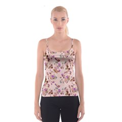 Antique Floral Pattern Spaghetti Strap Top