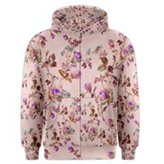 Antique Floral Pattern Men s Zipper Hoodie