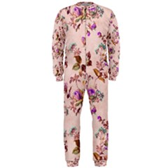 Antique Floral Pattern OnePiece Jumpsuit (Men)