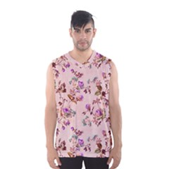 Antique Floral Pattern Men s Basketball Tank Top