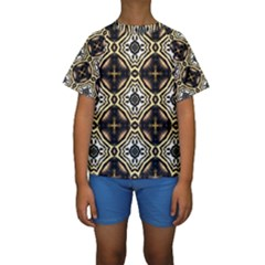 Faux Animal Print Pattern Kid s Short Sleeve Swimwear
