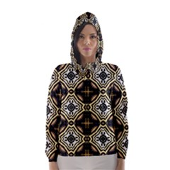 Faux Animal Print Pattern Hooded Wind Breaker (women)