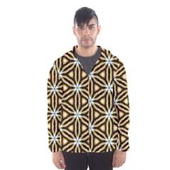 Faux Animal Print Pattern Hooded Wind Breaker (men)