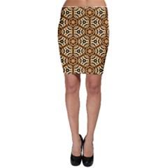Faux Animal Print Pattern Bodycon Skirts