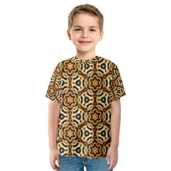 Faux Animal Print Pattern Kid s Sport Mesh Tees