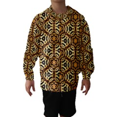 Faux Animal Print Pattern Hooded Wind Breaker (Kids)
