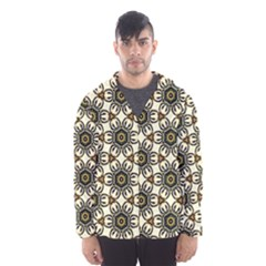 Faux Animal Print Pattern Hooded Wind Breaker (Men)