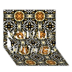 Faux Animal Print Pattern You Are Invited 3d Greeting Card (7x5)
