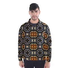 Faux Animal Print Pattern Wind Breaker (Men)