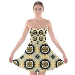 Faux Animal Print Pattern Strapless Bra Top Dress