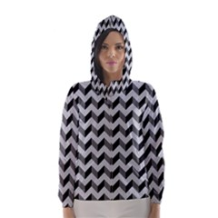 Modern Retro Chevron Patchwork Pattern  Hooded Wind Breaker (women)